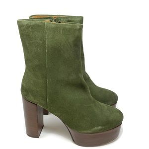NEW Free People Friday Night suede Heeled Boot 10